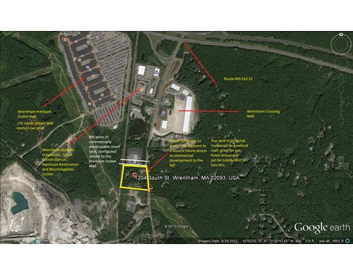 Land for Sale at 1204 South Street Wrentham, Massachusetts 02093 United States