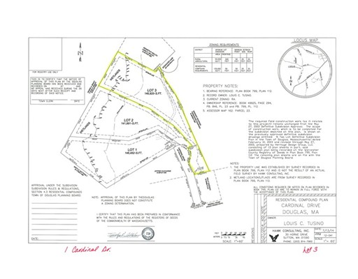 Land for Sale at 1 Cardinal Drive Douglas, Massachusetts 01516 United States