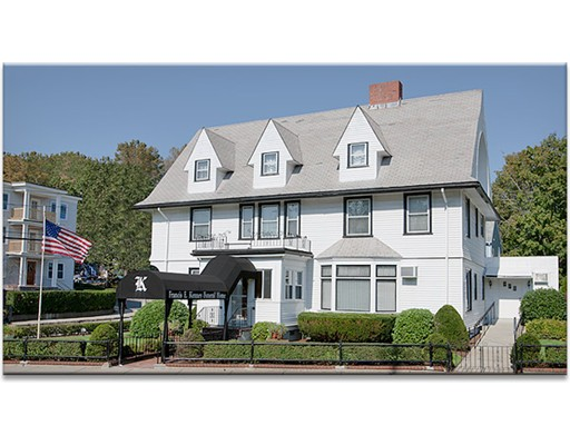 1445 River Street, Hyde Park, Massachusetts 02136. Great development opportunity in a great location of Hyde Park (Boston). Situated on a corner lot intersecting River Street and Reservation Road. Three floor colonial. Well-maintained landscaping. Handicapped-accessible ramp. Perfect for office space on the first floor and development potential on the floors above. Was last used as a funeral home (parlor).