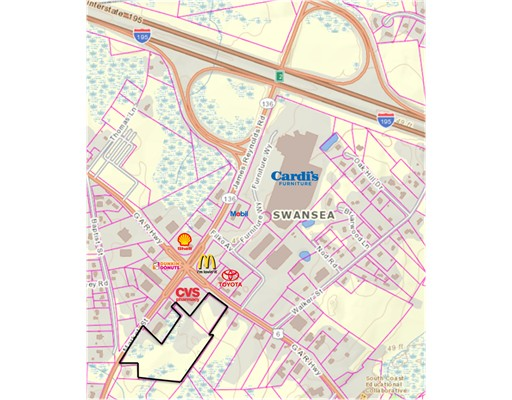 Terrain pour l Vente à 2314 Gar Hwy Swansea, Massachusetts 02777 États-Unis