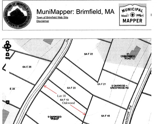 Land for Sale at 18 Oakwood Road Brimfield, Massachusetts 01010 United States