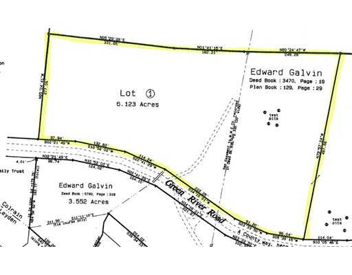 Land for Sale at Green River Road Lot 1 Green River Road Lot 1 Colrain, Massachusetts 01340 United States