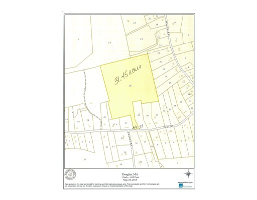 Land for Sale at 208 Yew Street Douglas, Massachusetts 01516 United States