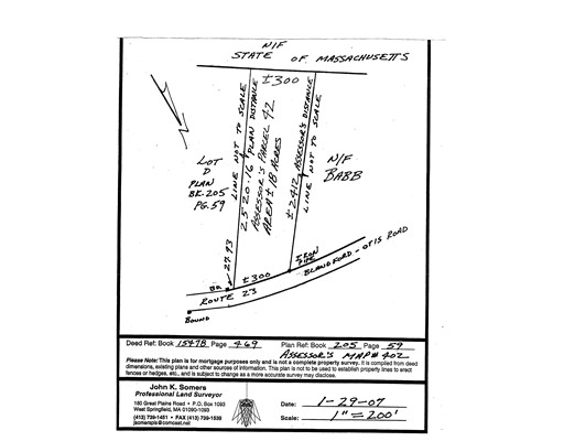 Land for Sale at 42 Otis Stage Road Blandford, Massachusetts 01008 United States