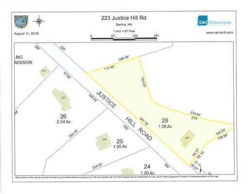 土地,用地 为 销售 在 223 Justice Hill Road Sterling, 01564 美国