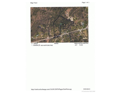 Terreno por un Venta en 1040 Hartford Pike Killingly, Connecticut 06241 Estados Unidos
