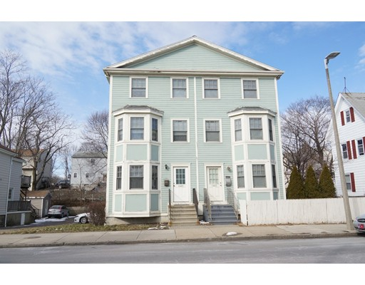 Stunning 4 bedroom duplex with 3 full baths & 1 half bath. Main master suite on 3rd floor with full bath, 2nd floor has a second master bedroom with full bath along with 2 additional bedrooms. Entire house has hardwood flooring except for bathrooms which have ceramic tile. Designer Kitchen with Granite counters, Stainless Steel appliances & center island. Slider off kitchen to exterior deck with storage under the deck. Full basement perfect for an extra room, storage or weight room. Built in 2008 with 200 amp service, Carrier Furnace & Central air. Area off dining room for office. 3 parking spaces. 50 gallon water heater with anti-floor alarm system & flood catch. Ceiling fan in dining room, 1st floor half bath with  pedestal sink Track lighting throughout entire house. 2nd level has full size washer and dryer so no carrying laundry down to the basement. Desired location on Hyde Park/Readville line, close to the Blue Hills Ski Area, Houghton Pond, Routes 93 and 95 & close to Boston.