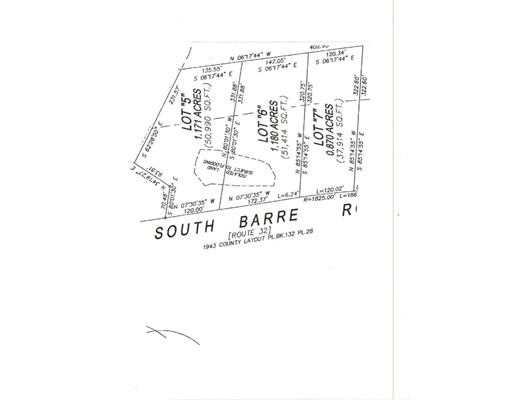 Lot 6 South Barre Rd., Barre, MA 01005