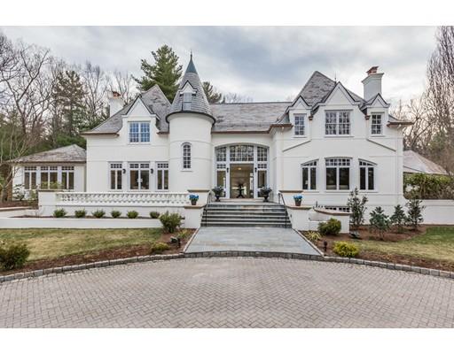 Частный односемейный дом для того Продажа на 190 Pond Road 190 Pond Road Wellesley, Массачусетс 02482 Соединенные Штаты