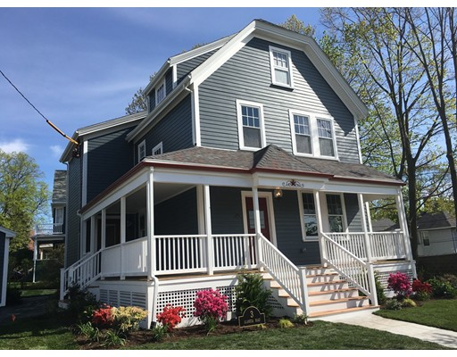 This spectacular renovation could be the one you've been waiting for.  Located on a large (10,049sf) corner lot you can follow the sun from your new maintenance free wraparound porch or rear deck. In addition to a living room and office the first floor kitchen and dining area defines the open space concept and also has a unique area with French doors opening to the rear deck. Granite and stainless Kitchen Aid appliances are only part of the charm of this space. The next two levels offer four bedrooms two bathrooms, a full laundry, study station area and more . All top of the line appliances are included. Gas heat, central air, garage, irrigation system, landscaping, and too much more to list.