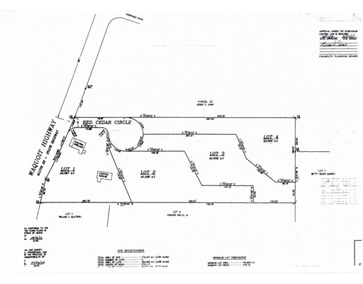 Land for Sale at Red Cedar Circle Falmouth, Massachusetts 02536 United States