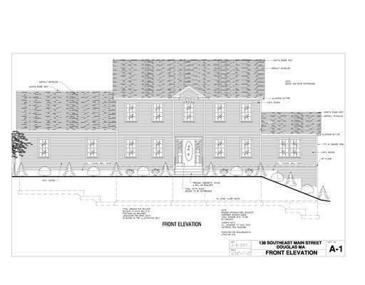 Частный односемейный дом для того Продажа на 134 South East Main Douglas, Массачусетс 01516 Соединенные Штаты