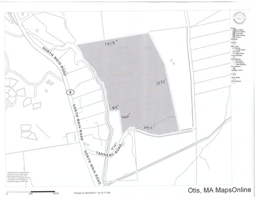 Terreno por un Venta en Tannery Road Otis, Massachusetts 01253 Estados Unidos