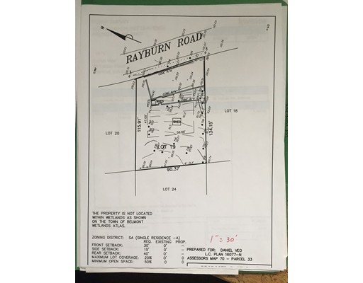 Land for Sale at 58 rayburn road Belmont, Massachusetts 02478 United States