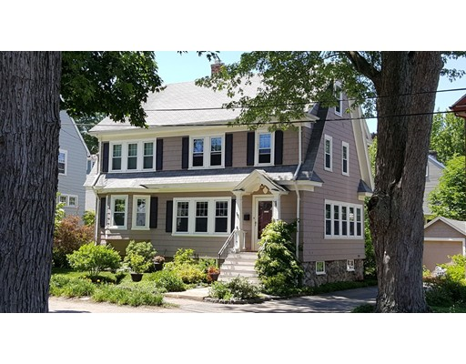 Outstanding Town Center location in a coveted tree-lined neighborhood near Milton Academy! This crisp and bright Crosby Colonial boasts custom woodwork, gleaming hardwoods, crown moldings, and built-ins galore. First floor features an entry foyer and dramatic staircase, LR w/gas fireplace, sunroom w/French doors, DR w/bay window, sunny kitchen w/walk-in pantry, and enclosed porch/mudroom. Three large bedrooms on second floor, and two bonus rooms with cedar closet on third floor. Expansive, bright living space in partially finished basement. Mahogany deck overlooks a level, beautifully landscaped backyard teeming with low-maintenance perennial gardens, fruit trees, shade trees, and ornamental shrubs.  Updated gas furnace, 200 amp electric, and replacement windows throughout. Walk to elementary school, middle school, Milton Academy, Turners Pond, library, and public transportation to downtown Boston. First showings at Open House: Sat 16/17 (1PM-3PM) and Sun 6/18 (1PM-3PM). Hurry!