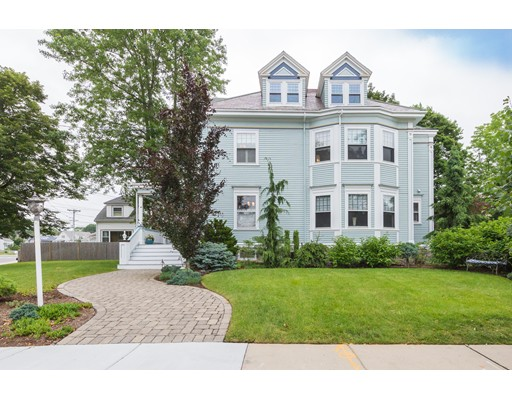 Much Admired Victorian Beauty nestled in the coveted Highland area of West Roxbury. Its captivating front porch welcomes you into this timeless home, which has been masterfully renovated with attention to detail. Spacious first floor offers an oversized Family Rm with large windows and stunning fireplace, oversized formal dinrm w/ fireplace which can accommodate large gatherings, Living rm w/pocket doors, Modern kitchen with high end appliances, pantry, and half bath. Second floor boasts a luxurious Master Bedrm with fireplace and spa like en suite, 2 more Large Bedrms w/another stunning bath. The Third floor offers a flexible floor plan w/ 2 additional bedrms, laundry & half bath. Finished lower level offers a Home Theater w/surround sound, an office and full bath. Beautiful Corner Lot with Professionally Landscaped Grounds, 2 Car Garage and Much More. A Rare Offering of Quality and Elegance. Located Steps To all W.Rox Amenities, Public Trans and short drive to the Medical Centers