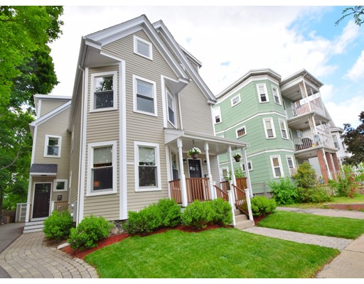 New price! Stunning 1,866 sq ft, 4 BR  2.5 BA gut renovation of a SF home w/ private back yrd & 2-c off st pkg. Ideally located close to W. Rox shops & restaurants, Roslindale Village & commuter rail station. You'll love the expansive, open concept fl plan on the 1st floor – great for entertaining. Chef's Kit features white soft close cabinetry, Carrara marble counters, subway tile backsplash & ss appliances, &  opens to a private rear deck /yrd space for grilling & summer fun. There is also a powder room. 2nd floor features 3 BR's, tiled bath & laundry closet.  Stunning top fl mster ste w/ walk in closet & spacious en-suite spa-like bath w/ double marble vanity. Plus, 2 zone cenl HVAC, stylish espresso stained hardwood flrs, tons of storage in the private bsmnt. Highend Anderson windows & blown-in insulation for energy efficiency & soundproofing. Great location offers easy access to Roche Bros. Market, Starr Yoga, Fallon Field Playground, Porter Café & more!  Don't miss this one!