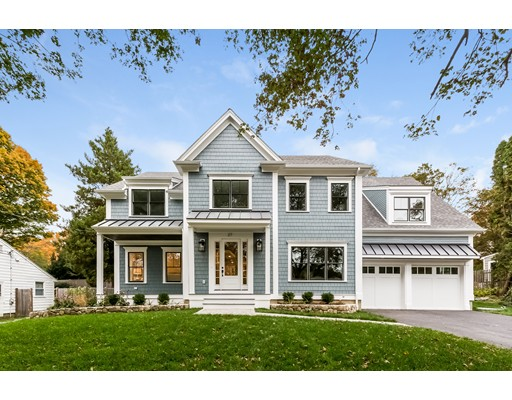 独户住宅 为 销售 在 27 Warren Road 27 Warren Road 牛顿, 马萨诸塞州 02468 美国