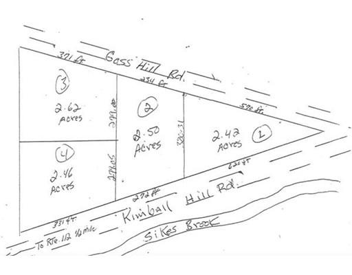 Lot 1-4 Kimball Rd, Huntington, MA 01050