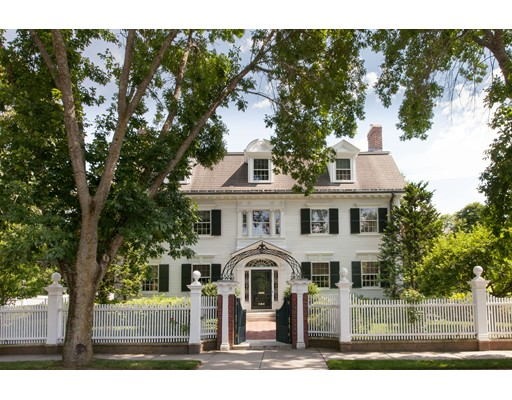 This stunning 1895 Georgian Revival is the oldest on Middlesex Road and had only 2 family owners to date. The detailed facade with an elaborate entryway and stunning staircase make this rarely found jewel distinctive. Located in one of Brookline's most distinguished communities, this brilliantly designed home features fine craftsmanship blended with the best materials. Graced with pristine landscaping, lush gardens along with private terraces create an ideal setting for outdoor entertaining. Generous room dimensions offer over 8500 + SF of living space on 3 levels with 7 magnificent fireplaces, 5 bedrooms on the second level, an intricate staircase, high ceilings, exquisite moldings, a third floor double skylight drenches the center of the home with light. Located in the premier Chestnut Hill Historic District easily accessible to downtown Boston, The Country Club and public transportation, Chestnut Hill Street and Square and Longwood Cricket Club.