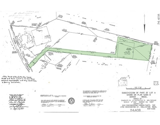 Land for Sale at Farm St. Lot 10 Dover, Massachusetts 02030 United States