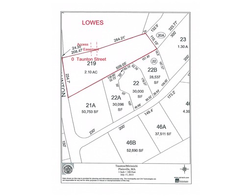 Land for Sale at Taunton Street Plainville, Massachusetts 02762 United States