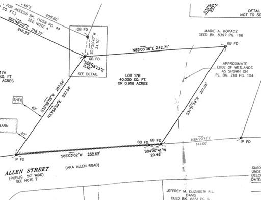 Terrain pour l Vente à 17 Allen Street Belchertown, Massachusetts 01007 États-Unis
