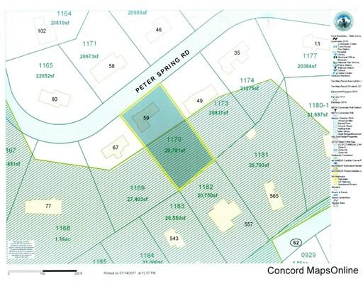 土地 为 销售 在 59 Peter Spring Road 康科德, 马萨诸塞州 01742 美国