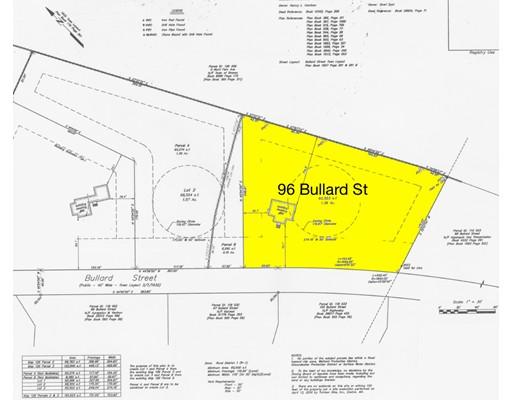 Land for Sale at 96 BULLARD Street 96 BULLARD Street Sharon, Massachusetts 02067 United States