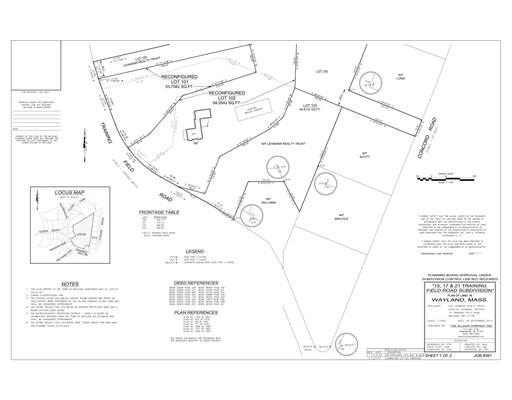 Land voor Verkoop een t 17 Training Field Road 17 Training Field Road Wayland, Massachusetts 01778 Verenigde Staten