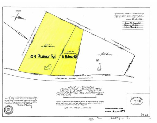 Land for Sale at Palmer Road Plympton, 02367 United States