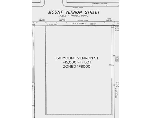 Land for Sale at 130 Mount Vernon Street 130 Mount Vernon Street Boston, Massachusetts 02132 United States