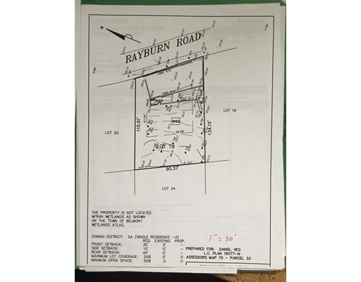Land for Sale at 58 rayburn road 58 rayburn road Belmont, Massachusetts 02478 United States