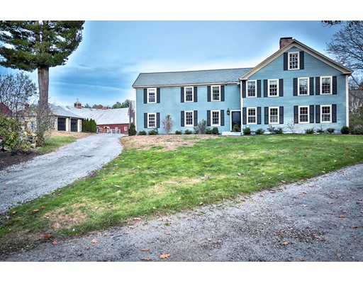 This legendary equine estate (Esterbrook Farm) is one of the most prestigious horse properties in the greater Boston area. You will be enamored with what this fine property has to offer: 10 beautiful acres, 2 large center island barns, with 21 oversized stalls, 2 heated tack rooms, large 150 x 70 indoor riding arena with premium GGT footing (perfect for any riding discipline), private viewing room, grooming area, triple crown fencing, 12+ paddocks, an outdoor arena, as well as  immediate access to miles of trails. The Antique style home (circa 1731) is loaded with charm and character, boasting 11 rooms, 4 bedrooms, 3 baths, 3 fireplaces, impeccably enhanced and restored, with a detached 2 car garage. This fine residence will impress the most fastidious of buyers. This property has it all, including subdivision potential. Call for a private viewing, you will be glad you did! This property is ideal for many uses