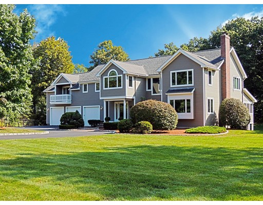 YOU WILL FALL IN LOVE with this stunning custom-built 4,000+ sq. ft. Colonial located at the end of a private circular drive, hidden from the street. Sun-filled open layout features 11 rooms, 4 bedrooms + study, 2.5 bathrooms and a 5-car attached garage.  Highlights include:  Impressive master suite with cathedral ceiling, 2 walk-in closets, spa-like bathroom, and balcony; 2nd-floor laundry room w/ sink and built-in ironing station; radiant in-floor heating on the entire 1st floor and upstairs bathrooms; finished walk-out basement w/ slider & full-size windows; security system; built-in stereo, and so much more.  Convenient South Chelmsford location, close to bike path, shopping, restaurants and more.  Make your appointment to see it today!