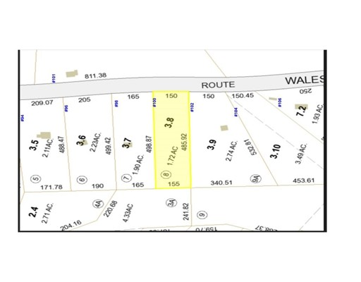 Land for Sale at 100 Wales Road 100 Wales Road Brimfield, Massachusetts 01010 United States