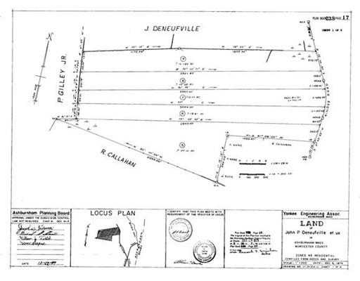 Земля для того Продажа на 8 Rindge Turnpike 8 Rindge Turnpike Ashburnham, Массачусетс 01430 Соединенные Штаты