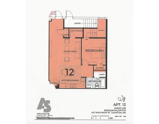 Apartment for Rent at 427 Winthrop Street #12 427 Winthrop Street #12 Taunton, Massachusetts 02780 United States