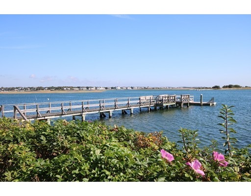 Magnificent, Nantucket style family home! Impeccably decorated, water views, deep water shared dock and separate guest house. This is the ultimate family beach home your family has been searching for! The picture perfect main house offers 4 bedrooms/3.5 baths, exquisite interior craftsmanship including 9' coffered ceilings, decorative molding and wainscoting throughout. The open concept living room features a wall of windows, gas fireplace and French doors leading to a shared deck private guest cottage. Two master suites, one with a fireplace, each have water views and ample closet space. Direct water access to scenic Bass River via your shared dock, minutes to Nantucket Sound! This stunning, custom built home is located in the heart of Bass River's most scenic district. Walk to Bass River, Judah Baker Windmill, area beaches and more!
