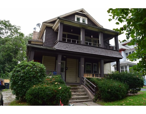Casa Multifamiliar por un Venta en 59 Forest Park Avenue Springfield, Massachusetts 01108 Estados Unidos
