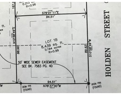 Terrain pour l Vente à 165 Holden Street, lot B 165 Holden Street, lot B Worcester, Massachusetts 01606 États-Unis