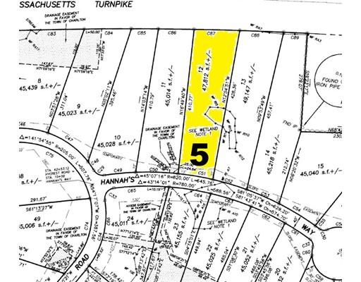 Земля для того Продажа на 5 Hannahs Way 5 Hannahs Way Charlton, Массачусетс 01507 Соединенные Штаты