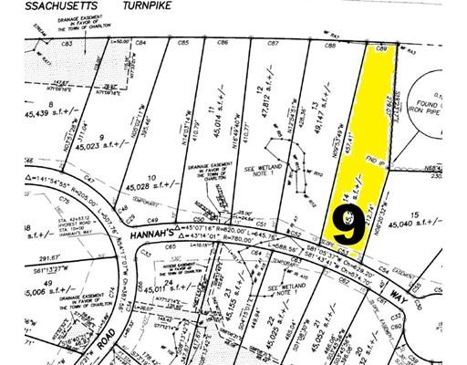 Земля для того Продажа на 9 Hannahs Way 9 Hannahs Way Charlton, Массачусетс 01507 Соединенные Штаты