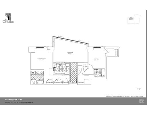 Частный односемейный дом для того Аренда на 1 Charles 1 Charles Boston, Массачусетс 02116 Соединенные Штаты