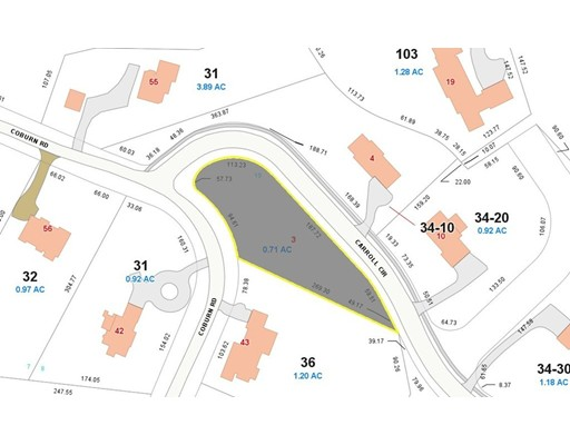 Land for Sale at 3 Carroll Circle Weston, 02493 United States