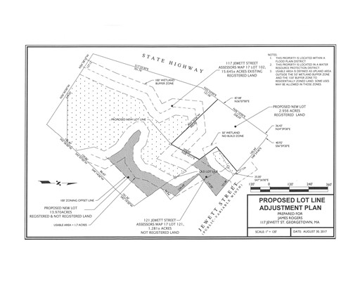 Land for Sale at 121 Jewett Street 121 Jewett Street Georgetown, Massachusetts 01833 United States