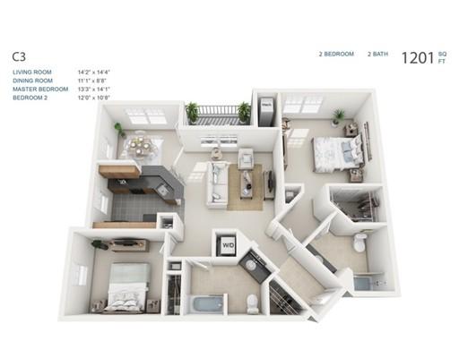 Apartamento por un Alquiler en 26 Seven Springs Lane #302 26 Seven Springs Lane #302 Burlington, Massachusetts 01803 Estados Unidos