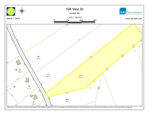 Land for Sale at 108 Vine Street 108 Vine Street Douglas, Massachusetts 01516 United States
