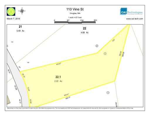 Land for Sale at 110 Vine Street 110 Vine Street Douglas, Massachusetts 01516 United States