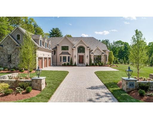 واحد منزل الأسرة للـ Sale في 45 Country Way 45 Country Way Needham, Massachusetts 02492 United States